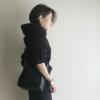 コーディネート~オールブラック+ステラロゴベルトバッグという定番~